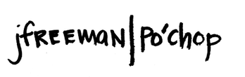 Jenn Freeman | Po'Chop logo hand drawn in sharpie