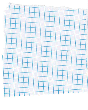 scrap of graph paper on artist blog The Brown Pages