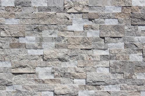 Crystal Silver White 6X24 Splitface Ledger Panel
