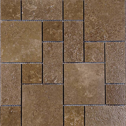 Noce Travertine Mosaics