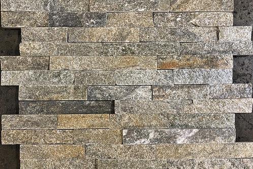 Green Quartz 6X24 Splitface Ledger Panel