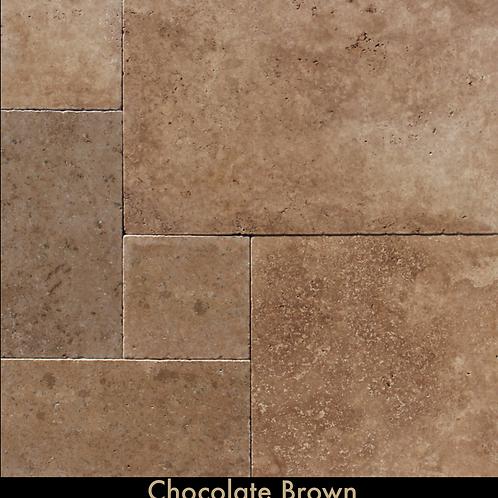Chocolate Brown Travertine Paver