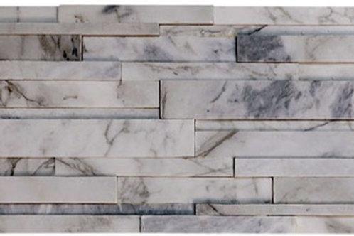 Calacatta Gold 6X24 3D Honed Marble Ledger Panel