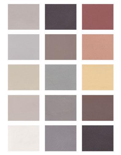 Microcimento kleurenkaart