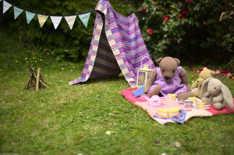 Teddy bear picnic and den
