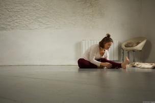 Yoga stretch in studio