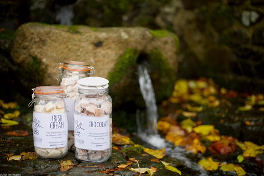 Jars of marshmallows
