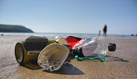 Litter on beach