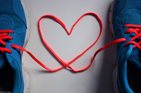 Trainer laces heart