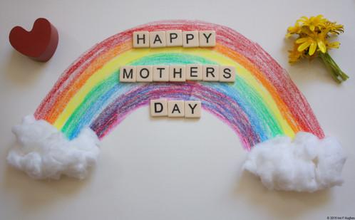 Mothers day rainbow flatlay