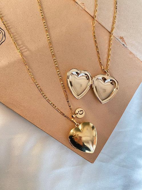 Kalp Açılabilir Madalyon Kolye