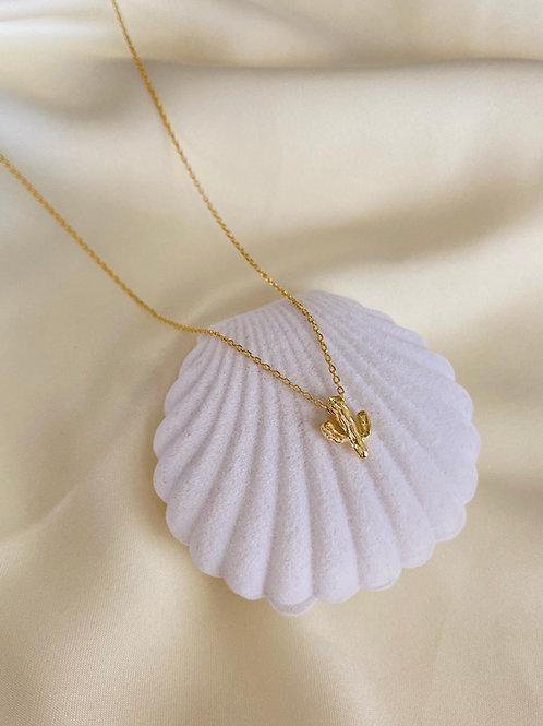 Minimal Kaktüs Kolye-925 Gümüş