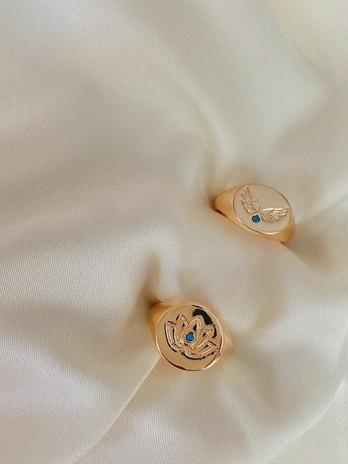 Mavi Taşlı Serçe Parmak Yüzüğü