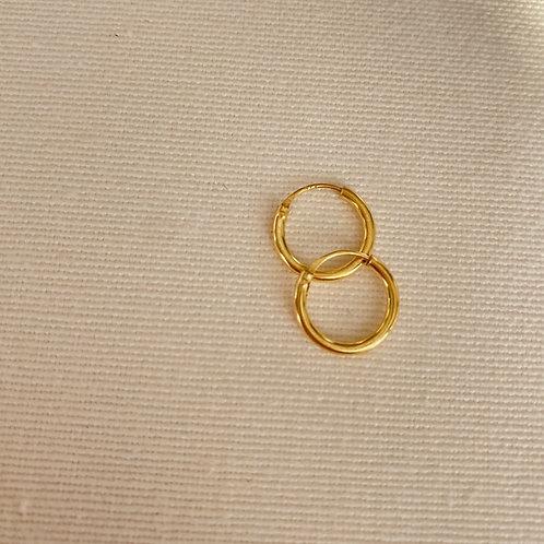 Halka Küpe 10 mm - 925 Gümüş