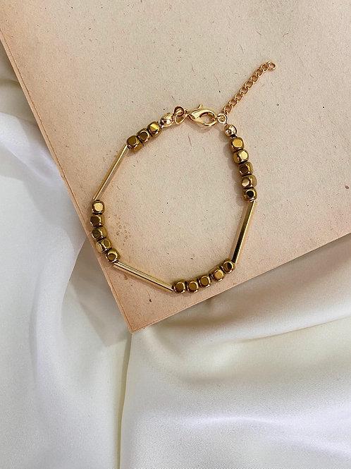 Hematit&Gold Bileklik