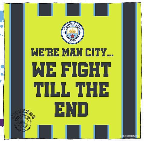 Manchester City WNRH stadium banner