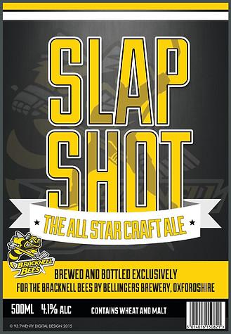 Slap Shot Beer bottle label