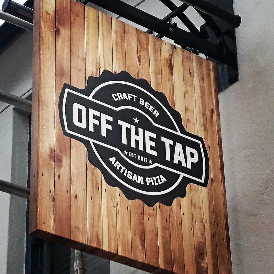 Off The Tap Signage