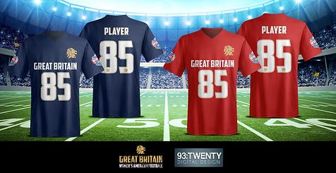 Team GB Women's American Football Shirt Concepts