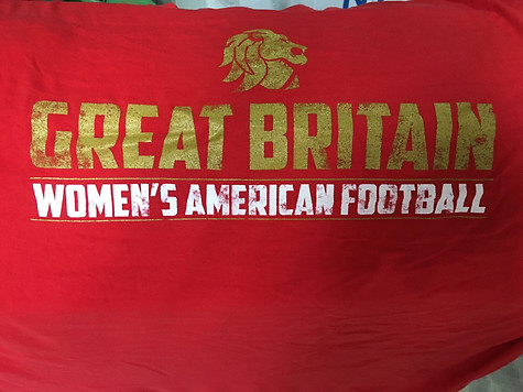 Team GB Women's American Football Final (Red #1)