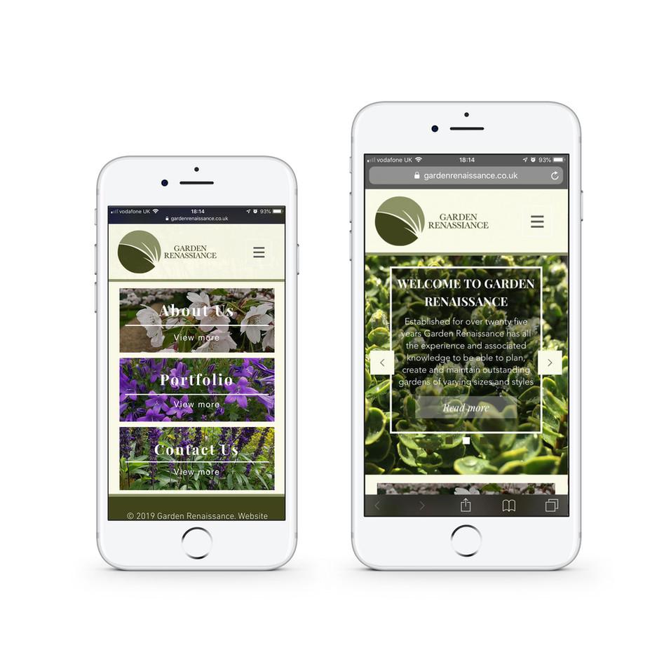 Garden Renassiance Homepage (mobile)