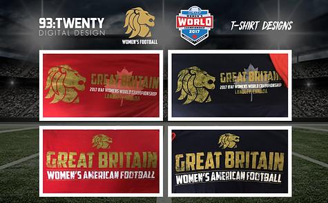 Team GB Women's American Football Final Collage
