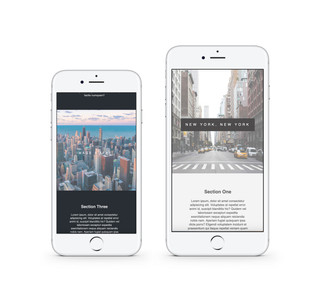 Parallax Scrolling Webpage (mobile)