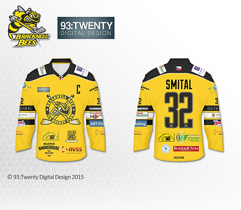 Bracknell Bees Warmup Jersey Design