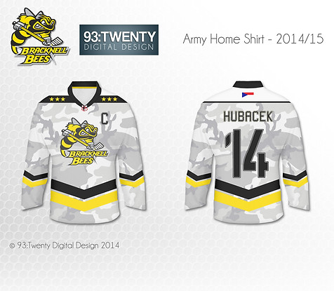 Bracknell Bees Armed Forces Jersey Design #1
