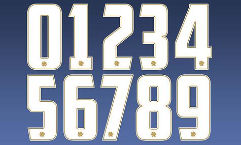 Team GB Women's American Football Number Designs