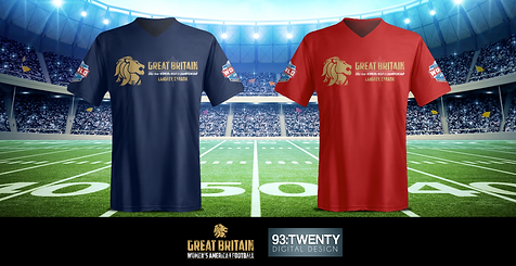 Team GB Women's American Football Shirt Concepts #3