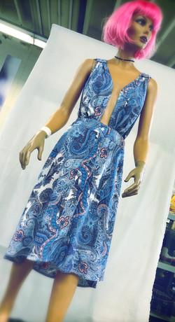 robe decolleté en coton