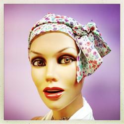 Bandeau à cheveux en chiffon de soie