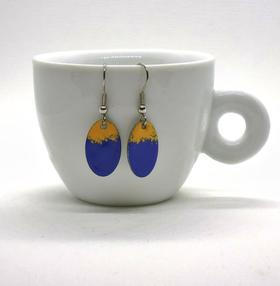 Blue & Yellow Earrings