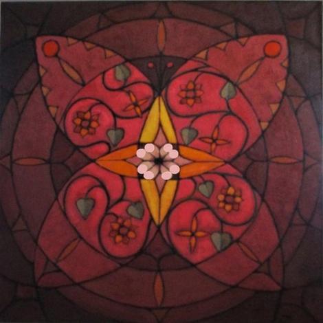 'Butterflies Wings'  oil on canvas 80x80cm
