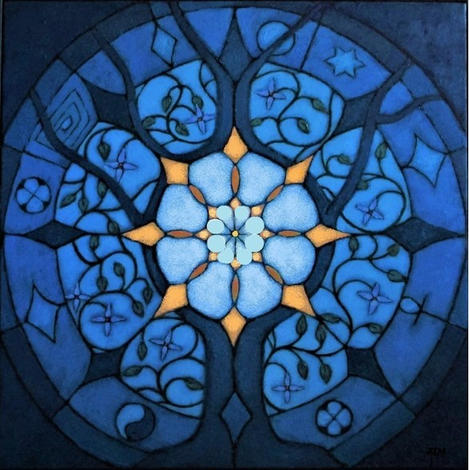 'Life Circles' 80x80cm