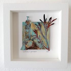 Godrevy Lighthouse Framed Metalwork