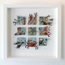 Cornish Seashore   Framed Metalwork
