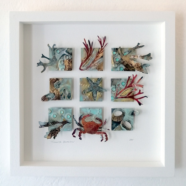 Cornish Seashore   Framed Metalwork