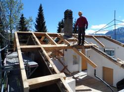 construction d'un nouveau toit