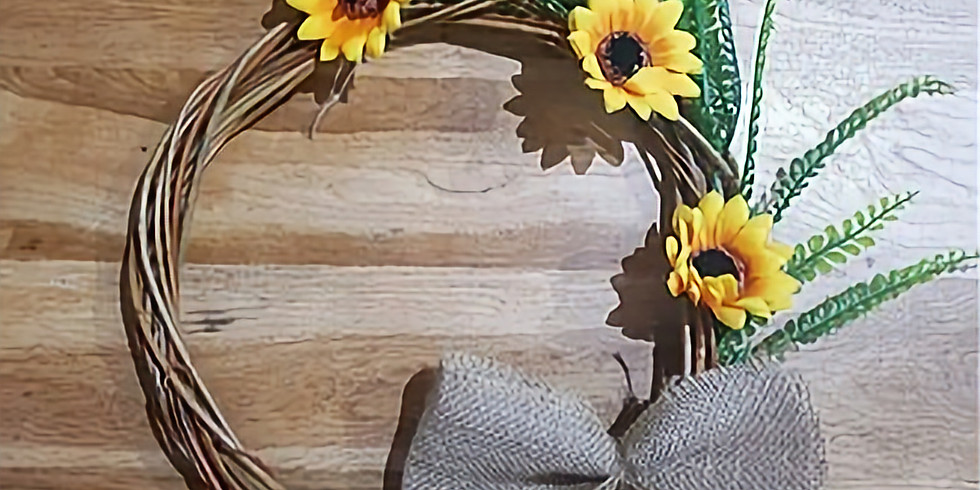 MEMBERS ONLY - Willow Weaving - Sunflower Wreath