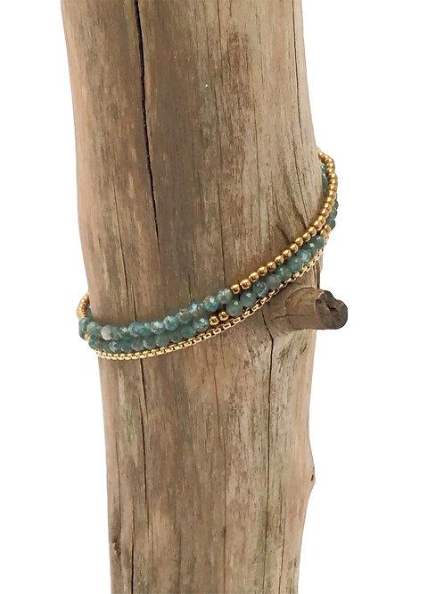 Manik-manik natuurstenen dames armband