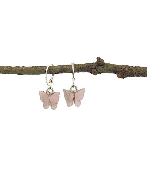 Manik-manik meisjes oorbellen met vlinders