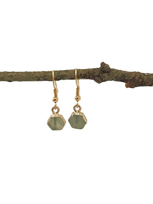 Manik-manik natuurstenen oorbellen