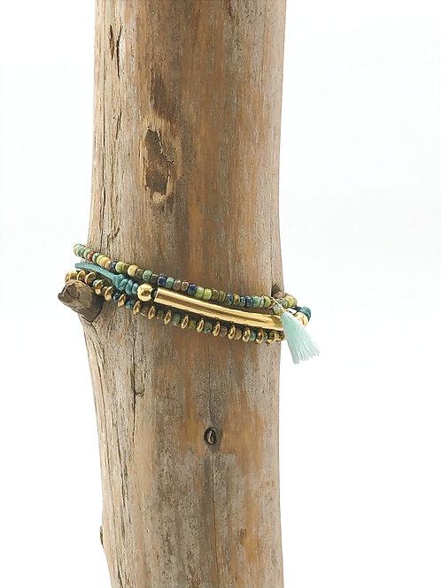 Manik-manik elastische armbanden set