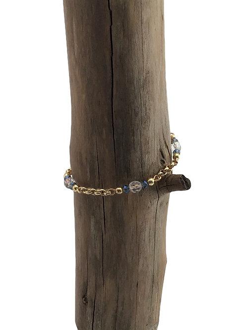 Manik-manik RVS dames armband