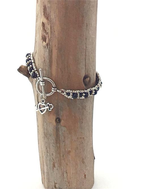 Manik-manik dames armband facet kralen en seed beads
