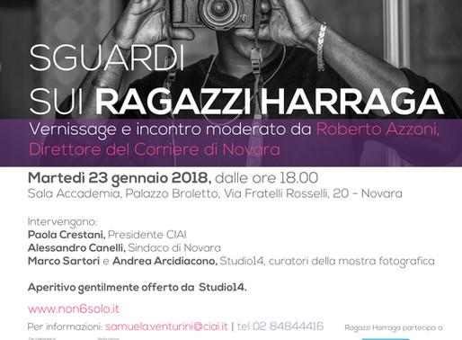Sguardi sui ragazzi Harraga, finalmente la mostra approda nella mia citta' di Novara.