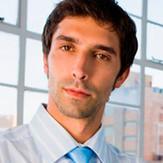 Uomo d'affari in blu