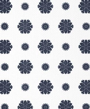Tillett Textiles Florette Navy